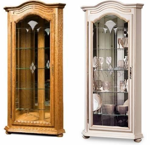 Шкаф с витриной Давиль ММ-126-50П