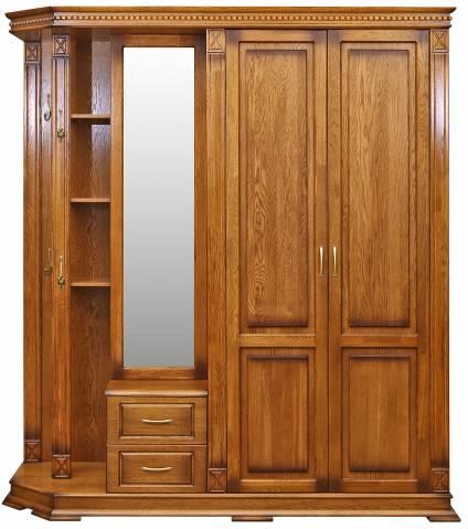 Шкаф комбинированный для прихожей Верди Люкс 1 П433.01