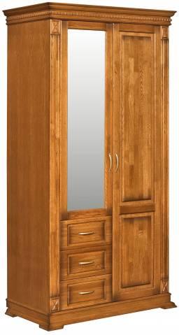 Шкаф комбинированный для прихожей Верди Люкс П433.12Z
