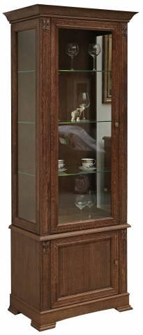 Шкаф с витриной Пьемонт П518.26