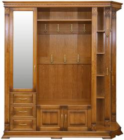 Шкаф комбинированный для прихожей Верди Люкс 2 П433.02