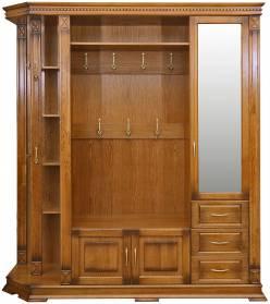 Шкаф комбинированный для прихожей Верди Люкс 2.1 П433.02-01