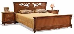 Кровать двойная Алези с высоким изножьем