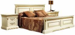 Кровать двойная Милана высокое изножье