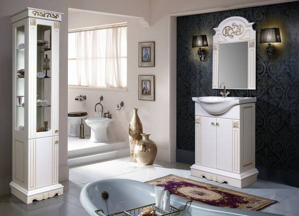 Комплект мебели для ванной «Амелия» КМК 0455
