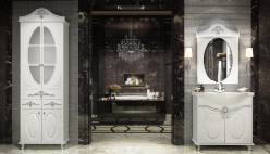 Комплект белой мебели для ванной «Жозефина» КМК 0541