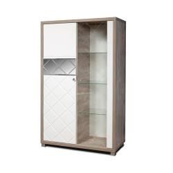 Шкаф с витриной Л Кристал КМК 0650.5