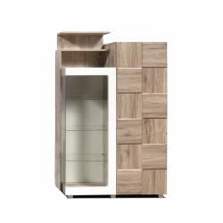 Шкаф с витриной П Риксос КМК 0644.3
