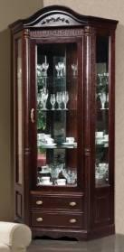 Шкаф с витриной угловой